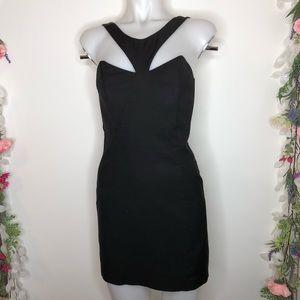 Mason black sleeveless mini cocktail dress